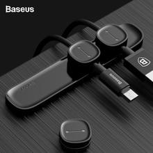 Baseus Магнитный Кабельный органайзер USB кабель управление зажим для намотки рабочего стола рабочая станция провода шнур протектор кабельный держатель для iPhone