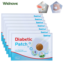 120pcs=20bags Diabetic Patch Chinese Herbal Stabilizes Blood Sugar Level Lower Blood Glucose Sugar Balance Medical Plaster D1809
