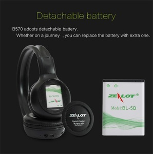 Image 4 - ZEALOT B570 Wireless Headphones fm Radio Over Ear Bluetooth Stereo Earphone Headset for Computer Phone,Support TF card,AUX