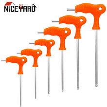 NICEYARD 2.5mm 3mm 4mm 5mm 6mm 8mm Hexagon ประแจ Allen Hex Key Wrench T Handle Spanner Hand Tool (China)
