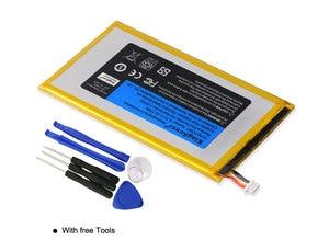 Image 5 - KingSener P706T Neue Tablet batterie für DELL Venue 7 3730 Venue 8 3830 T02D T01C T02D002 T02D001 0CJP38 02PDJW 3,7 v 15,17 wh