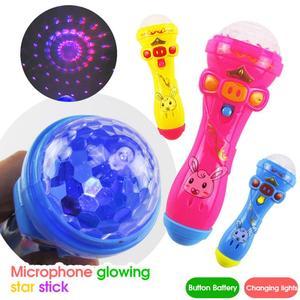 Juguetes musicales para niños, micrófono inalámbrico, de iluminación con minialtavoz juguete, Karaoke, canto, regalo educativo temprano