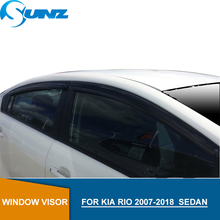 Car door visor For KIA RIO 2007-2018 Window Visor For KIA RIO 2008 2009 2010 2011 2012 2013 2014 2015 2016 2017 2018 Sedan SUNZ