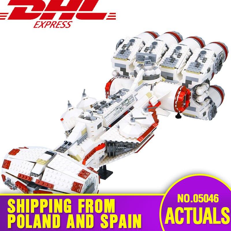 DHL 05046 Star Toys Wars Compatible With Legoing 10019 Rebel Blockade Runner Model Building Blocks Bricks Kids Christmas Gifts