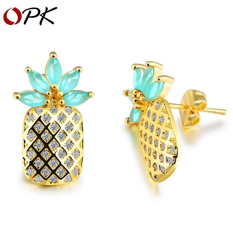 OPK à la mode personnalisé boucles d'oreilles femme coréenne coréen coréen coréen coréen micro micro micro code de de de