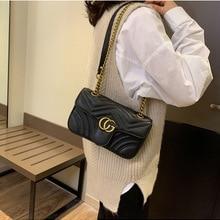 ManCo Pu leather Women HandBag Famous Brand Embroidery Designer Shoulder