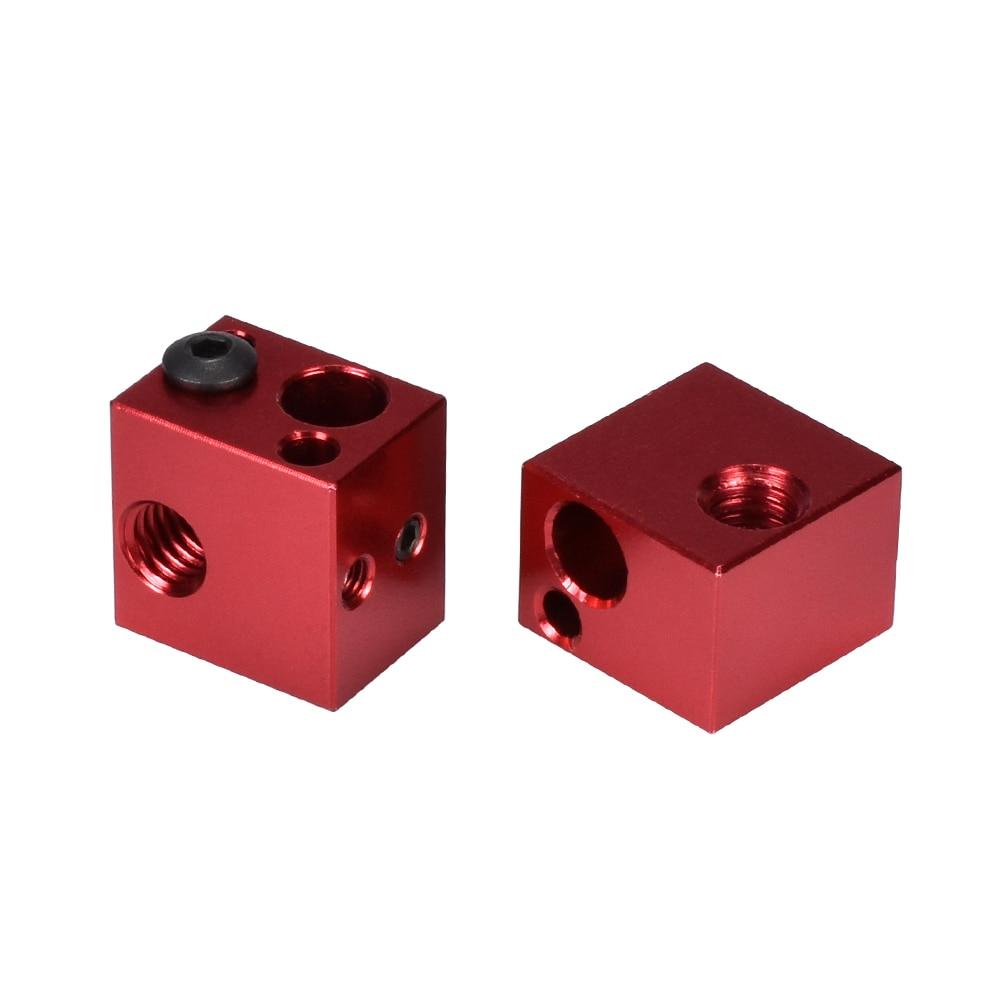 V5 Aluminum Heater Block Block as 3D Printer Parts Fits for J-head Hotend Bowden Extruder 3