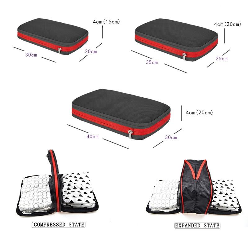 Men Women Nylon Travel Bag Waterproof Packing Cubes Large Capacity Foldable Travel Bag Organizer Multifunctional Travel Bag