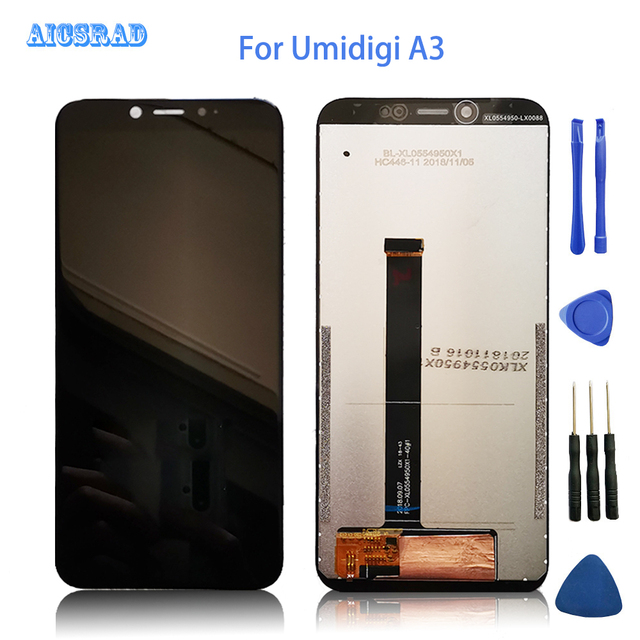 AICSRAD 100% Tested lcd For umidigi A3 / A3 PRO Lcd Screen Display +Touch Panel Digitizer Glass a 3 pro a3pro +Tools