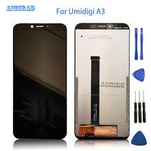 Aicsrad 100% testado lcd para umidigi a3/a3 pro tela lcd + painel de toque digitador vidro a 3 pro a3pro ferramentas