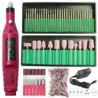 1 Set Electric Nail Drill Machine Manicure Set Pedicure Electric Nail File Gel Cuticle Remover Strong Polishing Equipment Kit