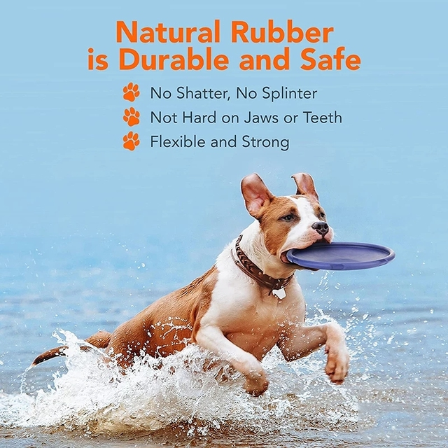 Safe Elastic Durable Tear-Resistance Floatable Frisbee For Many Hours Of Playtime . 6