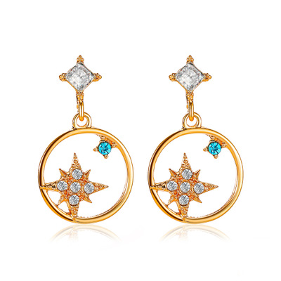 Earring-gold color
