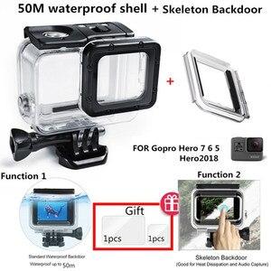 Image 1 - Suptig 50M Underwater Diving Waterproof Housing Case +Open back cover for GoPro Hero2018 Hero 7 Black for Go Pro HERO6 5 Camera
