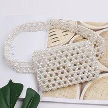 Purse Waist-Bag Women Messenger-Bag Pocket Female Outdoor NEW Pearl Solid High-Quality