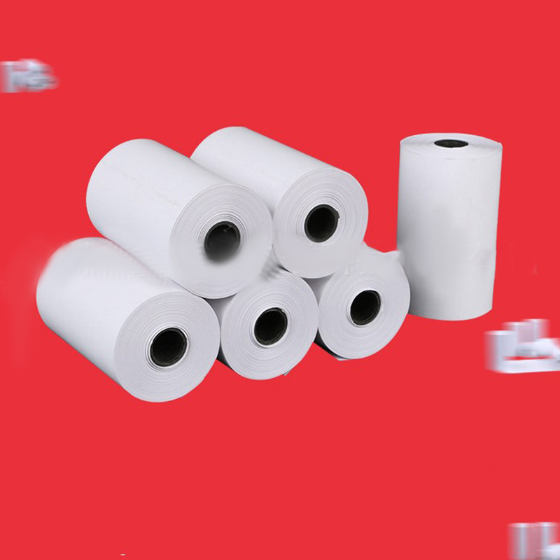 5 Rolls Sticker Paper Printable Roll Direct Thermal Paper with Self-adhesive Thermal Label Paper