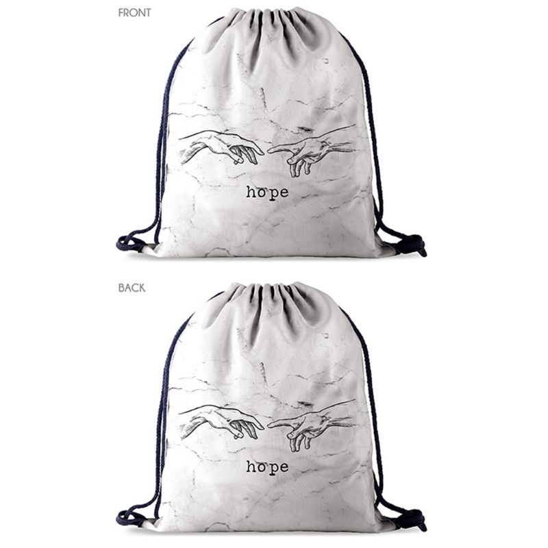 Drawstring Bag School Library Swimming Gym Backpack Travel Adult Sports Daypack New Hot