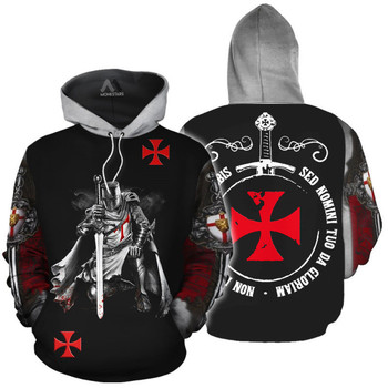 Templar Knights All Over Print Hoodie 1