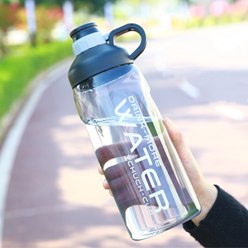 2000ml Large Capacity Water Bottle Bpa Free Gym Fitness Kettle Outdoor Camping Picnic Bicycle Cycling Climbing Shaker Bottles-in Water Bottles from Home & Garden on AliExpress