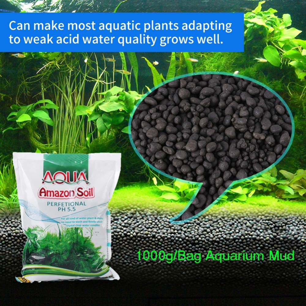 Aquarium Planted Substrate Sand,  Soil Fertilizer Mud For Fish Tank Plants Care Freshwater