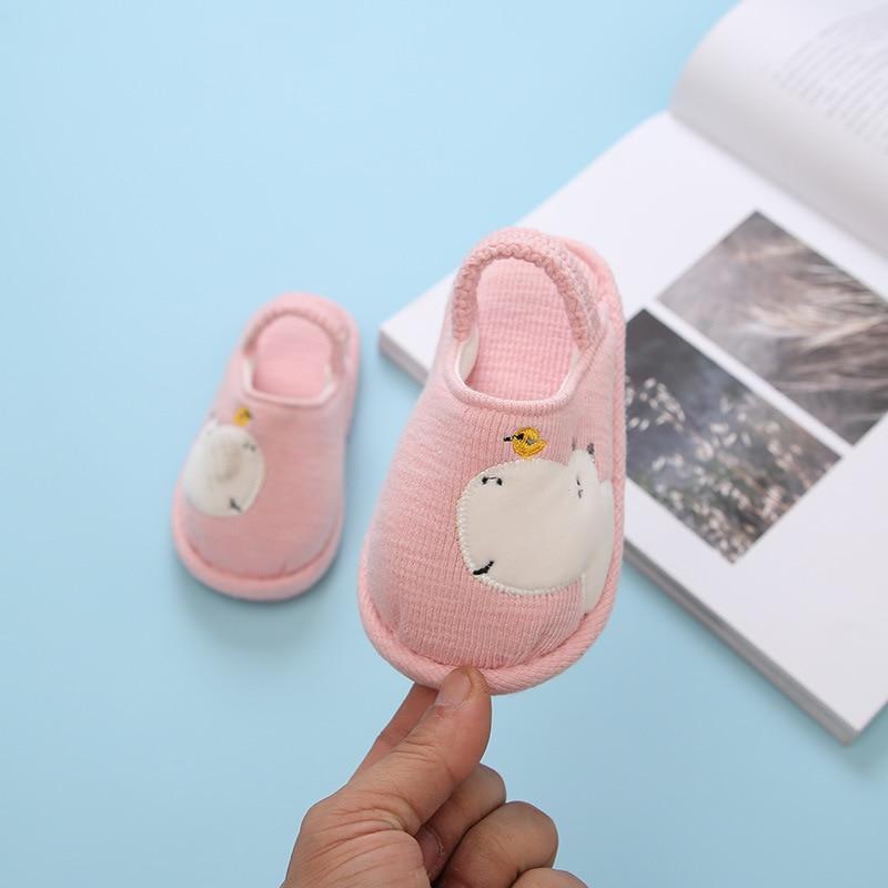 От 1 до 3 лет тапочки для маленьких мальчиков и девочек; детские тапочки; зимняя повседневная домашняя Нескользящая эластичная детская