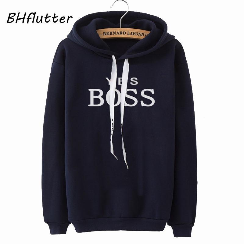 BHflutter 2019 Winter Pullovers Hoodies Women Fashion Letters Print Hooded Sweatshirts Warm Fleece Tracksuits Tops Ariana Grande