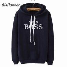 BHflutter 2019 Winter Pullovers Hoodies Women Fashion Letters Print Hooded Sweatshirts Warm Fleece T
