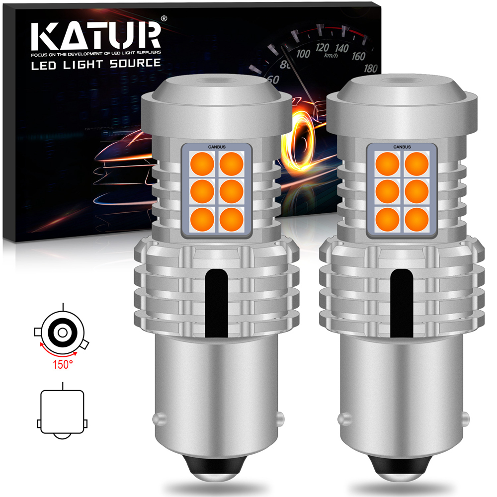 2Pcs 1156 P21W PY21W BA15S No Hyper Flash T25 3157 P27/7W LED <font><b>Auto</b></font> Turn Signal Lights T20 7443 W21/5W Canbus Led <font><b>Bulb</b></font> Orange image