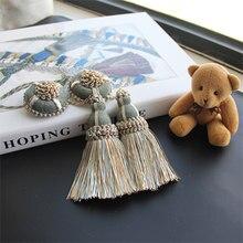 2Pcs Tassel Curtain Hanging Ball Room Accessories DIY Craft Tassels Fringe Pendant Table Flag Key Tassels Home Decoration