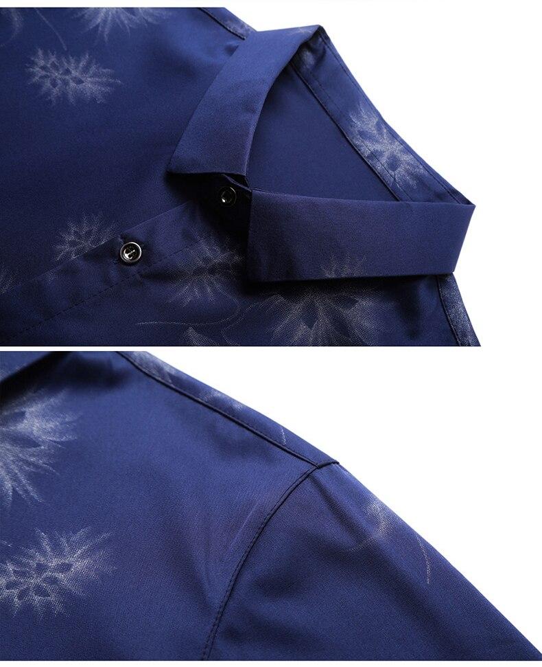 Ha20d8a61fb374642b5116d466e8ca2c9b 2020 Brand Long Sleeve Men Social Shirt Streetwear Casual Dandelion Shirts Dress Mens Slim Regular Fit Clothes Fashions 80503