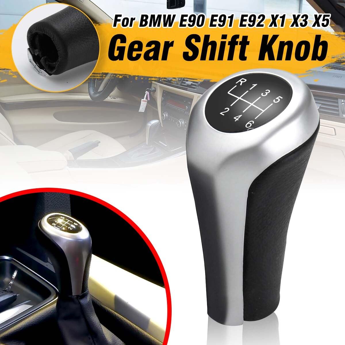 6 Speed Shift Knob Head,Car Manual Gear Shift Knob Stick Head For E36 E46 E39 E34 Z3 E90 E91 E92 X1 X3 X5