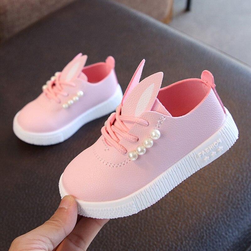 Sneakers Princess-Shoes Girls Breathable Children Anti-Slip 1-Pair Beads Rabbit-Ear New-Design