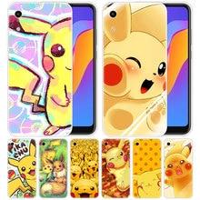 luxury Silicone Case Anime Pokemon eevee Pikachu for Huawei Honor 9X 8A 7A 20 Pro 7X 8X 7S 8S 8 9 10 Lite View 20i 10i Play