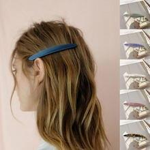 Pasadores largos de acetato estrecho Vintage para mujer, pasadores largos de mármol, leopardo, Tortuga, concha de ácido acético, Clip para el pelo, accesorios para el cabello