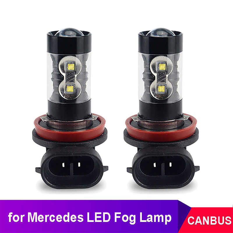 2x Canbus H9 H8 H11 LED Nebel Licht Lampe DRL Lampe für Mercedes Benz W203 W211 W204 W210 CLA W212 w202 W205 W176 W124 AMG C E GLK