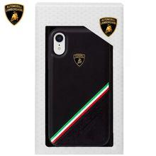 Funda para iPhone XR Licencia Oficial Lamborghini Piel Negro