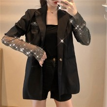 New arrival Spring Solid Luxury Blazer For Women Long Sleeve