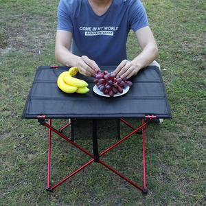 Image 2 - Portable Lightweight Outdoors Table For Camping Table Aluminium Alloy Picnic BBQ Folding Table Outdoor Activties Tavel Tables