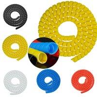 1m Lijn Organizer Pijp Bescherming Spiraal Wrap Winding Cable Protector Cover Buis forXIAOMI M365/PRO Elektrische Scooters-in Scooter Onderdelen & Accessoires van sport & Entertainment op