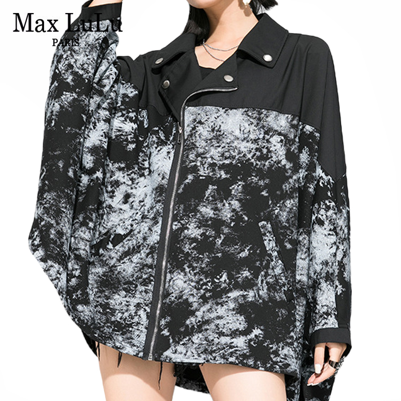 Max LuLu 2020 New Spring Fashion Ladies Loose Oversized Trench Womens Punk Style Zipper Coats Printed Female Clothes Streetwear