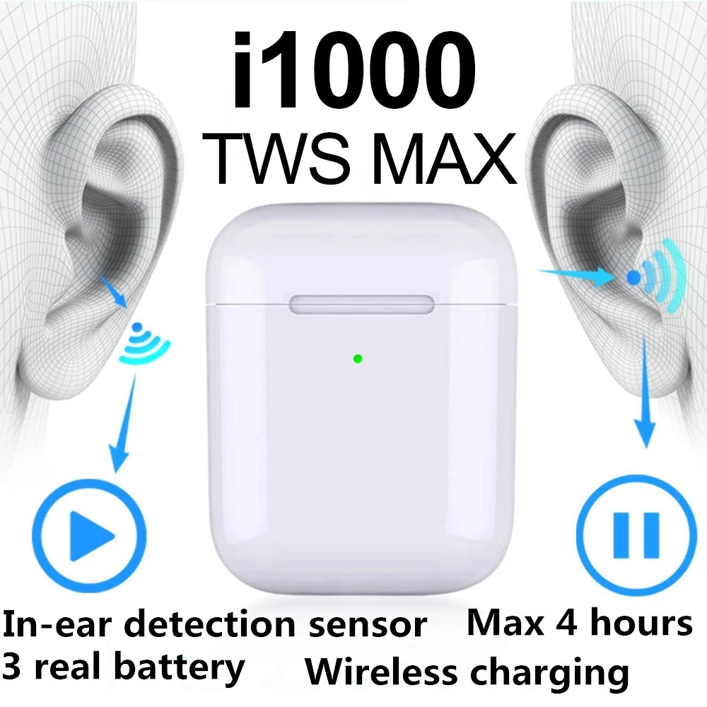 i1000 <font><b>TWS</b></font> Bluetooth 5.0 GBS Rename 1:1 Pop up Wireless Charging Earphones Pop Up 6D Subwoofer <font><b>Super</b></font> Bass Earbud Pk <font><b>i30</b></font> i200 i500 image