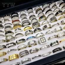 Титан Сталь ювелирные изделия кольцо 100 шт/кор геометрический