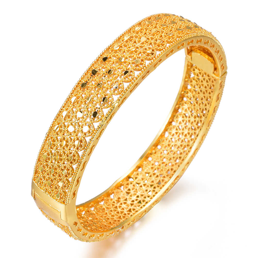 Wando 4 ชิ้น/ล็อต charm 24Kbracelets สำหรับผู้หญิงแบรนด์หรู gold hollow beach party กำไลเครื่องประดับอินเดีย wb132