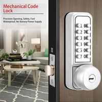 Cerradura de puerta de contraseña Digital código mecánico cerradura de puerta sin llave impermeable Contraseña de tres generación + cerradura electrónica de llave
