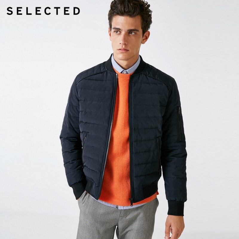 SELECTED Men's Down Jacket Winter Baseball Collar Short Down Coat S418412514 w Kurtki puchowe od Odzież męska na  Grupa 1