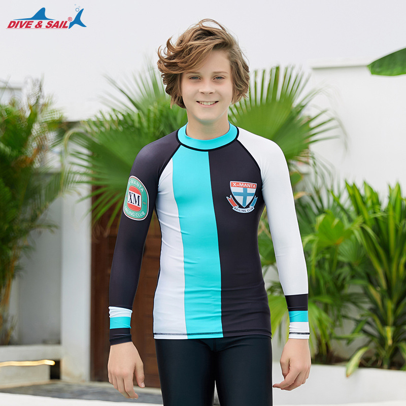 Hot Selling CHILDREN'S Swimwear Split Long Sleeve Sun-resistant Jellyfish Clothing Floating Diving Suit Surfing Quick-Dry BOY'S