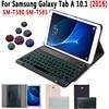 Slim Backlit Keyboard Case For Samsung Galaxy Tab A A6 10.1 2016 SM-T580 SM-T585 T580 T585 Tablet Cover Bluetooth Keyboard