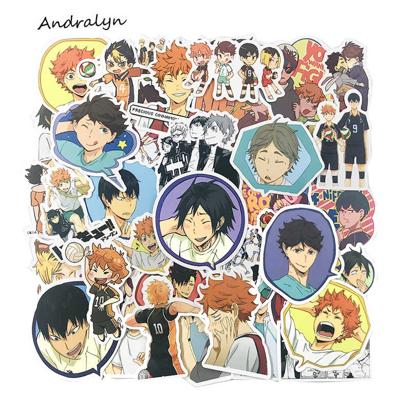 Details about  /50Pcs Haikyuu Volleyball boy Stickers Decal Skateboard Laptop Luggage New