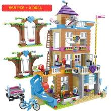 868pcs Building Blocks Girls Friendship House Compatible Lepining  Toys For Children Girls Series Blocks Bricks Kids Gifts