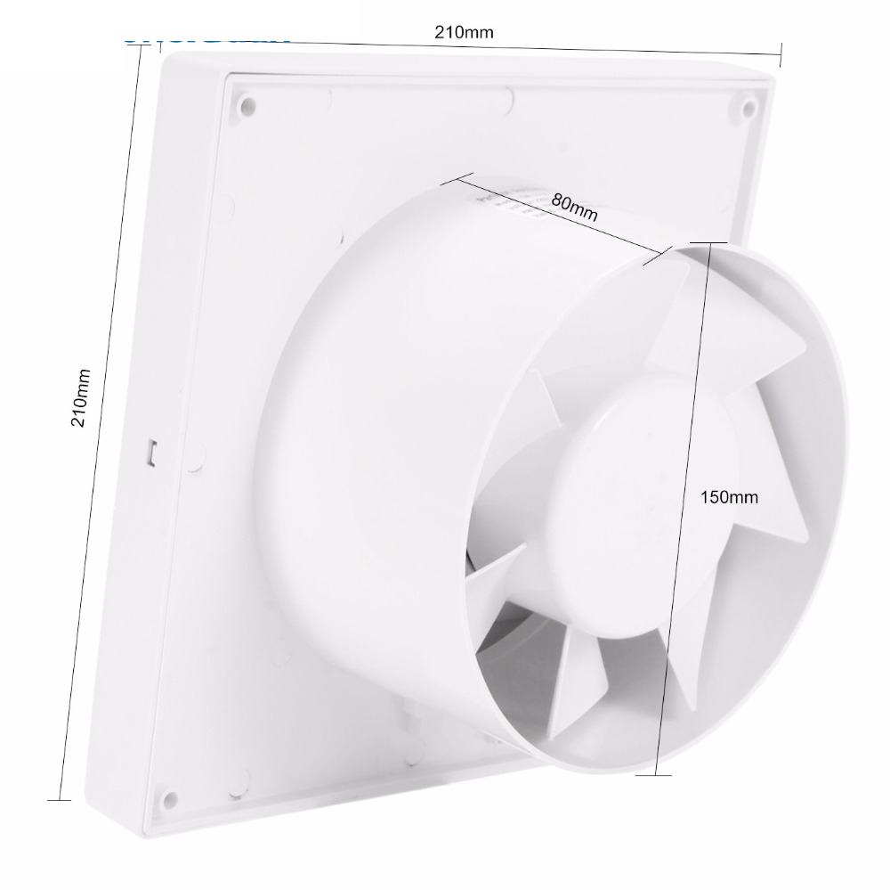110V 220V 6inch 14W Home Ventilation Exhaust Fan Wall Mount Low Noise Bathroom Kitchen Air Vent Ventilation Fans Plastic ABS in Vents from Home Improvement